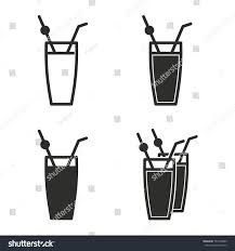 cocktail vector cocktail vector icons set black illustration stock vector