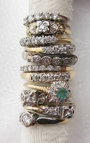 art deco stacking rings vintage estate 14k gold stack band w