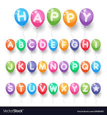 letter balloons colorful alphabet letter balloons royalty free vector image