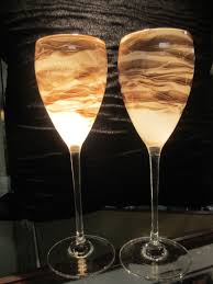 steven maslach hand blown wine glasses pair above all consignments