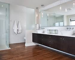 modern u0026 clean master ensuite with curbless shower floating vanity