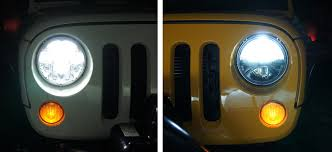 led jeep wrangler headlights truck lite style vs led headlight side by side test