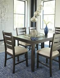 7 Piece Dining Room Set by Signature Design By Ashley Rokane Brown 7 Piece Dining Room Table