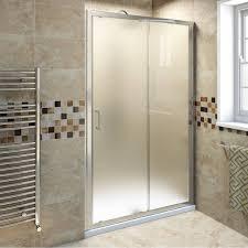Whole Wall Sliding Glass Doors Bathroom Frosted Glass Shower Door Framed Glass Sliding Shower