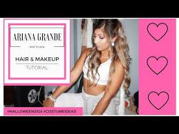 grande costume grande side to side hair makeup costume tutorial