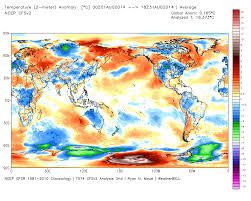 World Temperatures Map by Uah Global Temperature Report August 2014 Down By 11c Watts Up