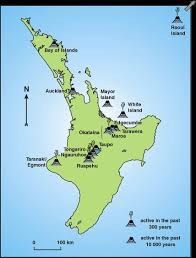 geography blog new zealand volcanoes map
