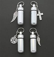 keepsake keychains assortment of five silver cremation urn keepsake