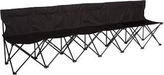 Portable Sports Bench Amazon Com Portable 6 Seater Folding Team Sports Sideline Bench