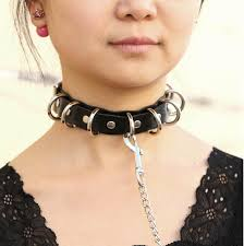 punk choker necklace images Big artificial leather choker goth jewelry rebel street clothing jpg