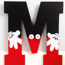 mickey mouse inspired letter childhood monograms and shelves