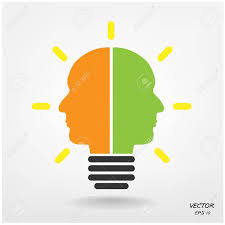 creative light bulb business and ideas concepts vector