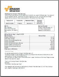 Bill For Services Template Amazon Invoice Sample Pdf Rabitah Net