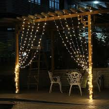 Outdoor Icicle Lights Waterproof 4 5mx3m 300 Led String Curtains Light Window