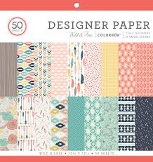 colorbok scrapbook colorbok 73490a designer paper pad mint julip 12 x