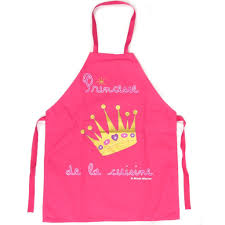 princesse cuisine tablier enfant princesse de la cuisine fuschia