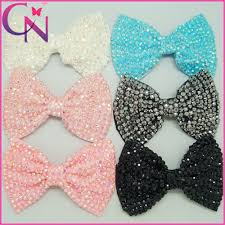 hair bows for 300pcs lot 6 large rhinestones hair bows with handmade