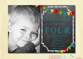 1st Birthday Invitation Card For Baby Boy Boys Chalkboard Birthday Invitation 1 2 3 4 5 Year Old