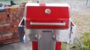 What Is Patio Gas by Kitchenaid 2 Burner Propane Gas Grill In Action Youtube