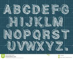 chalk letters font stock vector image 47396698