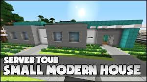 Small Modern House Minecraft Small Modern House Youtube