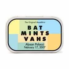 bat mitzvah giveaways mitzvah giveaways mint tins