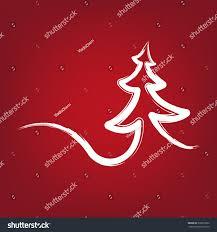 christmastree strokes symbol drawn vector illustration stock