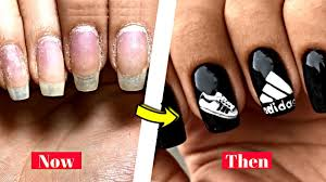 adidas nail art tutorial diy sporty nails stunning nails