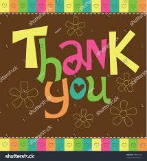 Thank You Card Designs Thank You Card Design Vector Illustration Stock Vector 108991742