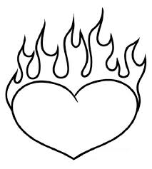 Coloring Pages Of Flames Funycoloring Color Pages