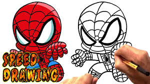 how to draw chibi spider man speed drawing youtube
