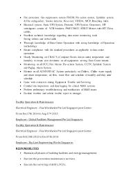 Maintence Resume Resume For Data Center Facility Maintenance