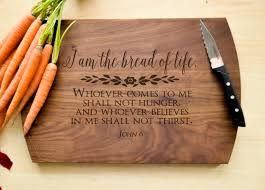 personalized christian gifts bread of cutting board christian cutting board