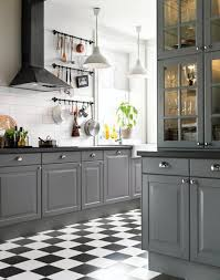 Black And White Kitchen Ideas Classics 10 Beautiful Black And White Checkered Floors Gray