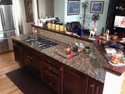 kitchen island with range renovation of kitchen