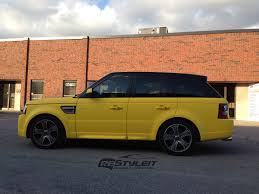 wrapped range rover matte yellow range rover sport autobiography vehicle
