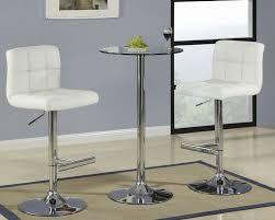 white pub table set round glass pub table with cream bar stool