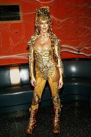 costumes at halloween city heidi klum drops a huge hint about this year u0027s halloween costume