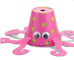 Decorating Clay Pots Kids Clay Pot Critter Pink Octopus Summer Crafts Pinterest Clay