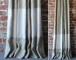 Custom Drapery Fabric 108 Banded Drapery Panel Custom Curtains 28 Color