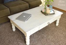 White Painted Coffee Table by Distressed Coffee Table Timeless Creations Llc