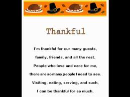 thankful thanksgiving rhymes songs