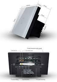 us au standard smart home 1 gang soft touch light switch wireless