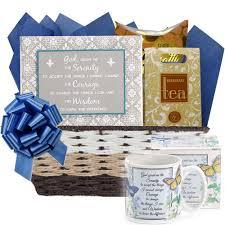 chagne gift baskets serenity prayer inspirational gift basket for s day
