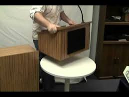 How To Build A Wood Table Top Podium by Amplivox Portable Tabletop Lectern U0026 Multimedia Utility Cart Base