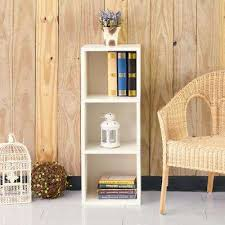 3 shelf narrow bookcase modern 13 4 bookcases home office furniture the home depot