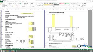Pedestal Foundation Spreadsheet For Combined Foundation Design With Piles