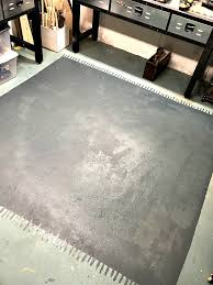 homeroad how to paint an area rug in the basement