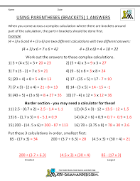 math worksheets 5th grade complex calculations