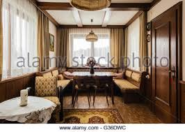 traditional country cottage livingroom interior stock photo
